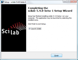 Scilab on Windows - Completing the Setup Wizard