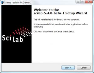 Scilab on Windows - Start Screen