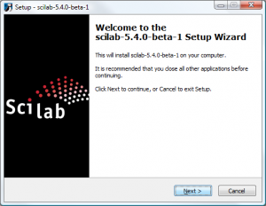 Scilab on Windows - Start Screen
