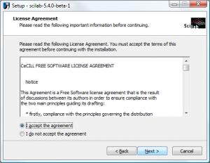 Scilab on Windows - License Agreement