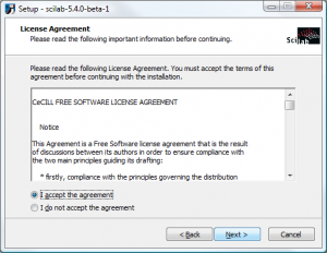 Scilab on Windows - License Agreement