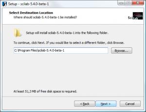Scilab on Windows - Select Destination Location