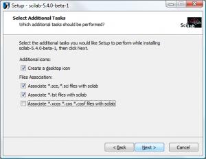 Scilab on Windows - Select Additional Tasks