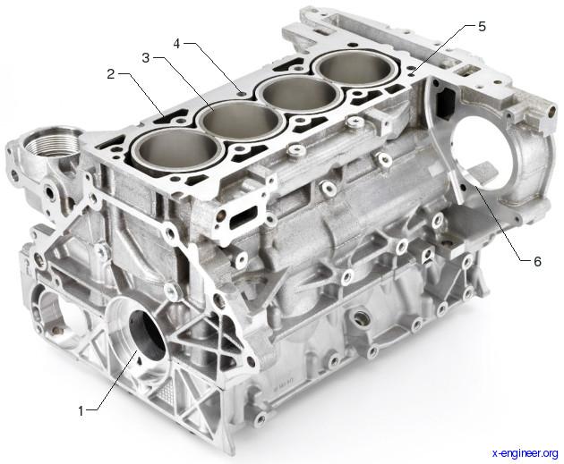 Ecotec 2.0L I-4 VVT DI Turbo Aluminium Engine Block Casting