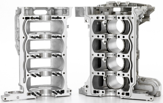 Ecotec 2.0L I-4 VVT DI Turbo Lower and Upper Aluminium Engine Block Casting