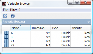 Variable Browser in Scilab