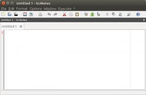 New script file in SciNotes