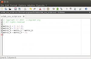 Scilab script file in SciNotes