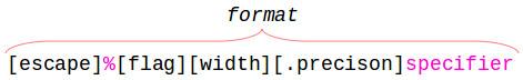 Scilab mprintf format structure