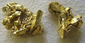 Raw solid gold nuggets