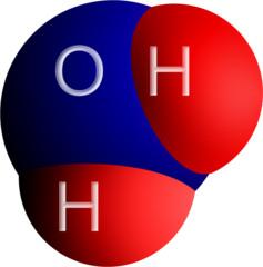 A water (H2O) molecule