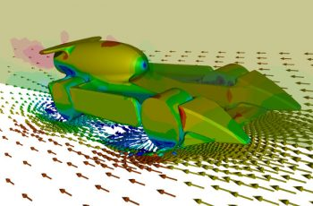 CFD (Computational Fluid Dynamics) simulation model