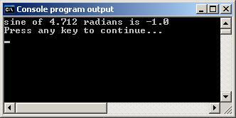 Console program output (Windows)