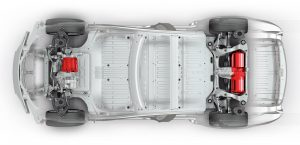 Tesla Model S P90D chassis and motor