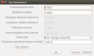 Xcos simulation parameters setup
