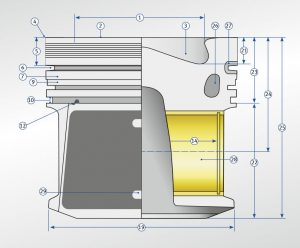 Diesel piston technical description