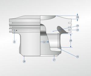 Gasoline piston technical description