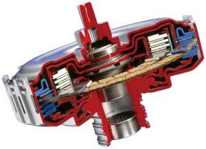 Multi-disc wet double clutch (DualTronic - BorgWarner)