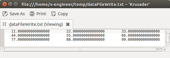 Scilab data text file write