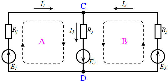 Kirchhoff's Voltage Law (KVL) circuit example