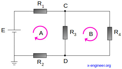 Simple electric circuit schematic