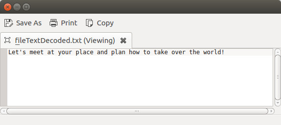 Decoded text file