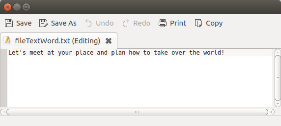 Word text file
