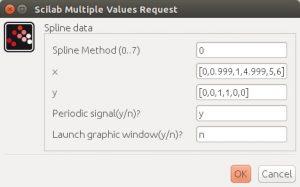 Signal builder parameters